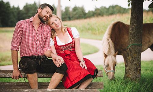 Tierfotografie mit Paar